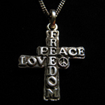 FREEDOM PEACE LOVE �N���X�E�l�b�N���XTypeB